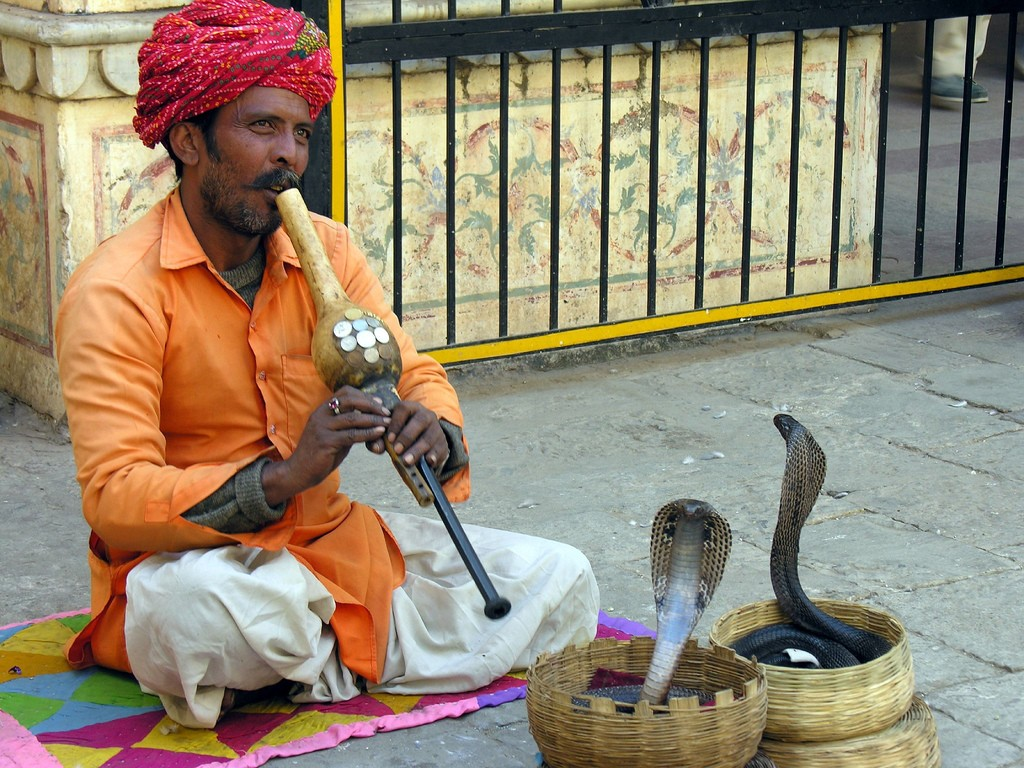 India is a country of snake charmers